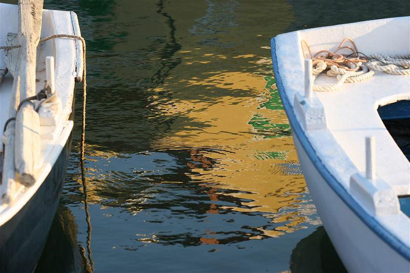 Gefangen zwischen Booten...