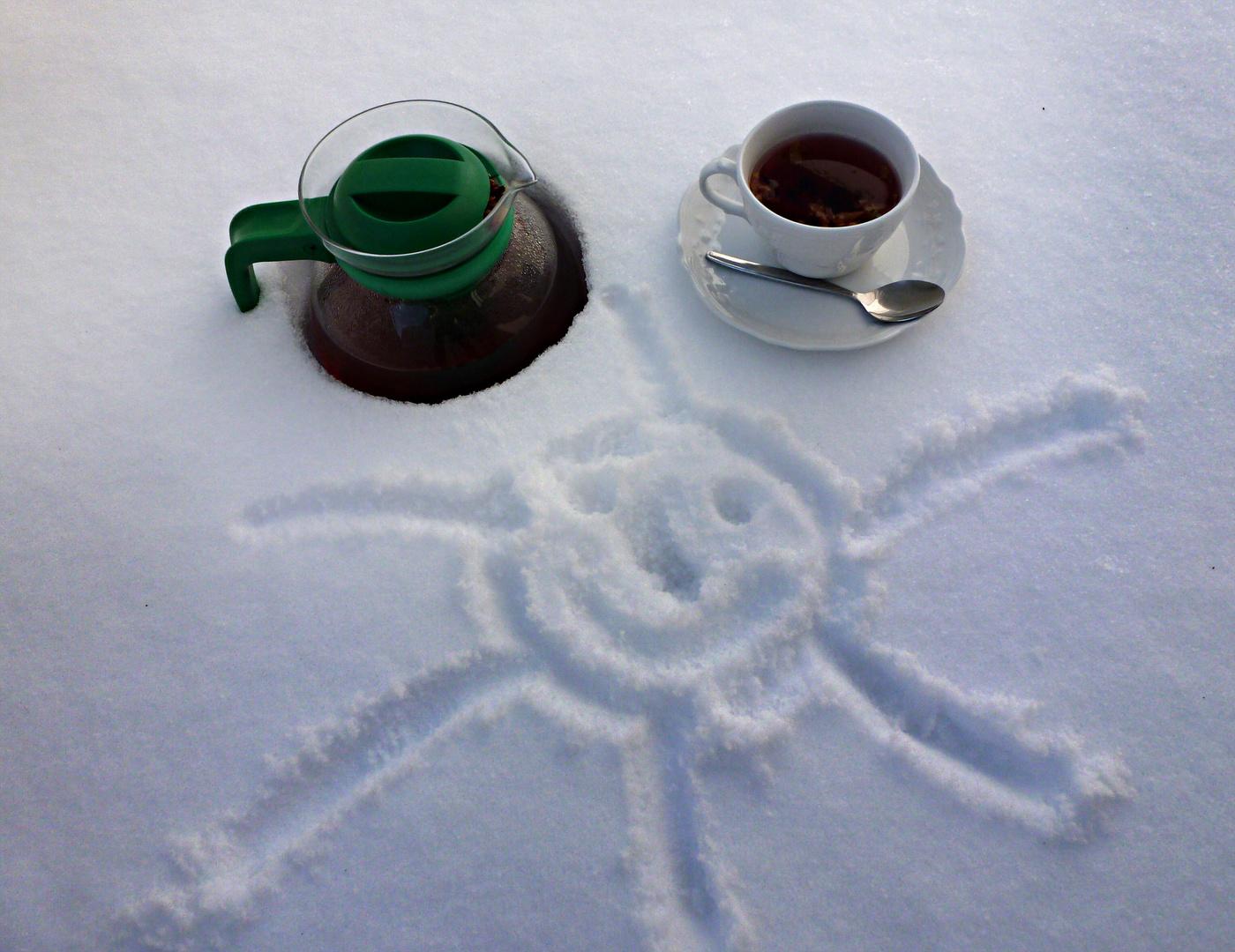 Gegen Schnee hilft Tee...