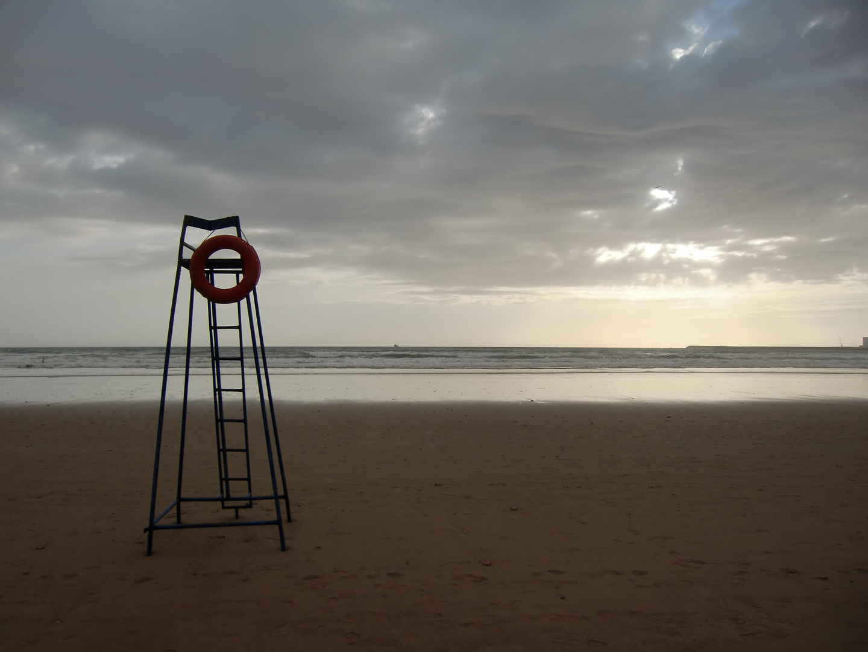 Gegenlicht - the stand at the beach