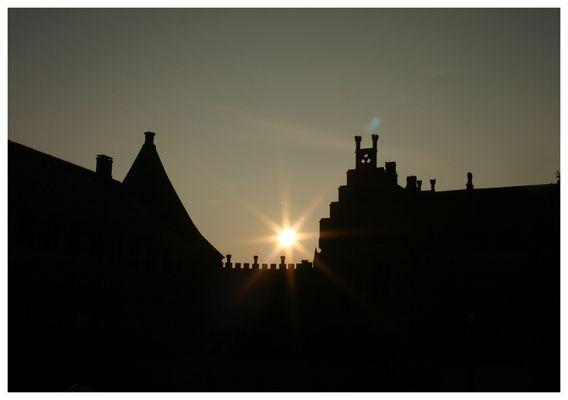 Gegenlichtaufnahme Burg Bentheim