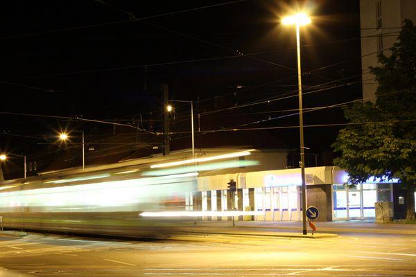 Geha-Platz um Mitternacht