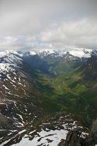 Geiranger Fjord von der Dalsnibba
