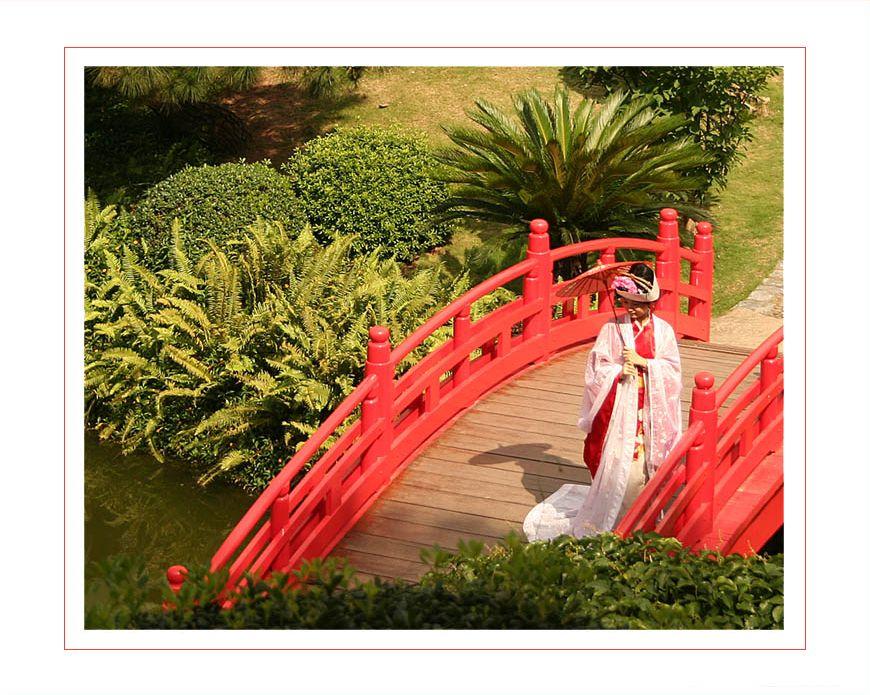 Geisha im Garten