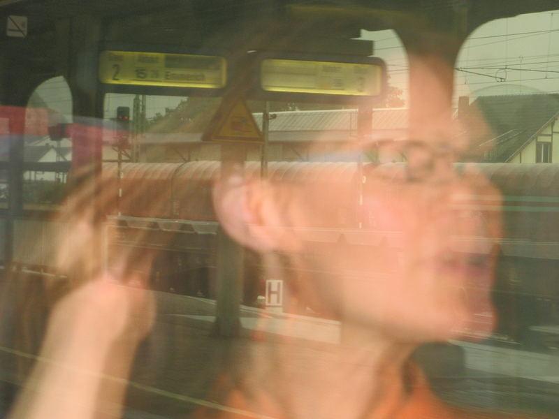 Geisterflug im Bahnhof ;o)