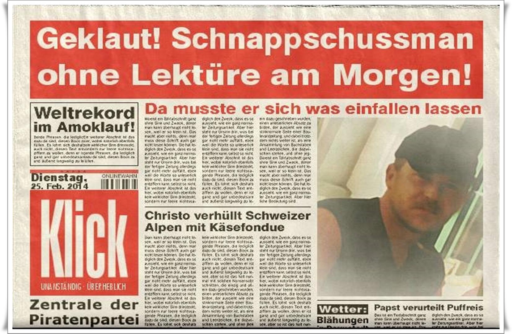 Geklaute Zeitung