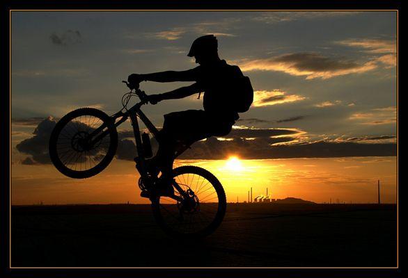 Gelände Fahrradfahrer