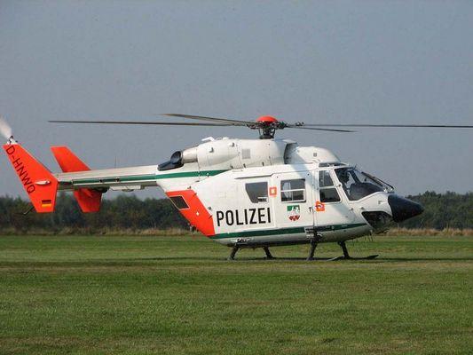 Gelandet - Polizeihubschrauber BK117