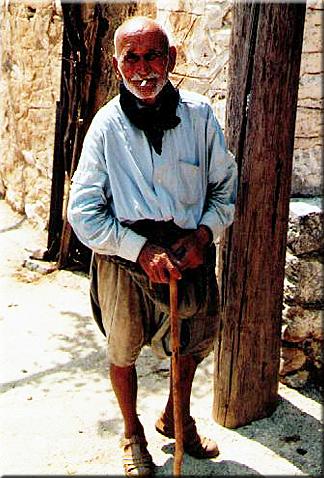 gelassener Alter, Kreta 1980