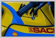 gelb und blau