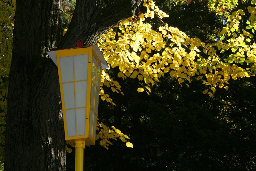 Gelbe Laterne aus den 50er Jahren