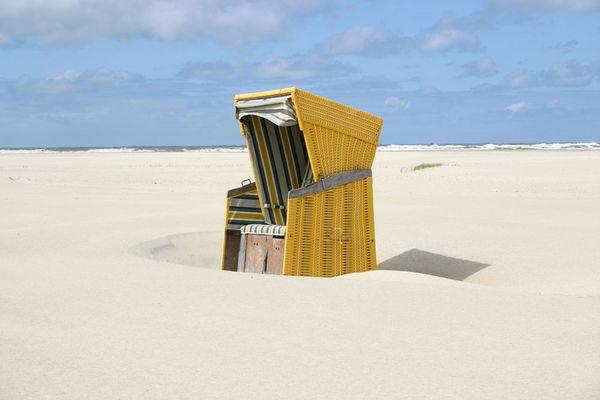 Gelbe Strandkorb Oase