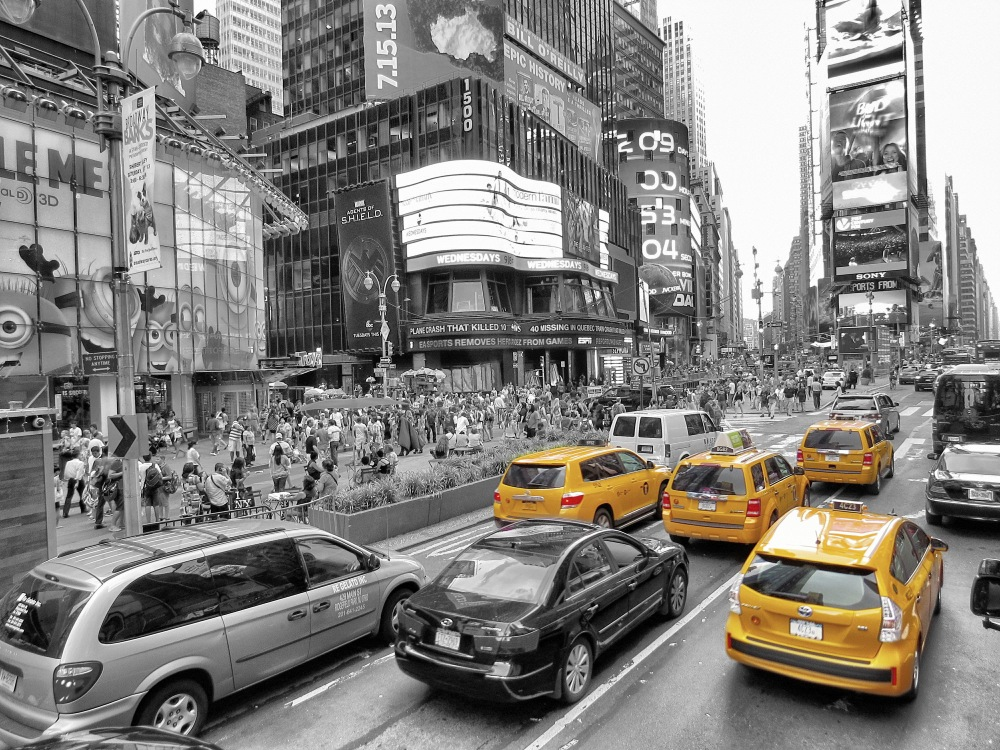 Gelbe Taxis New York 10 - Time Square