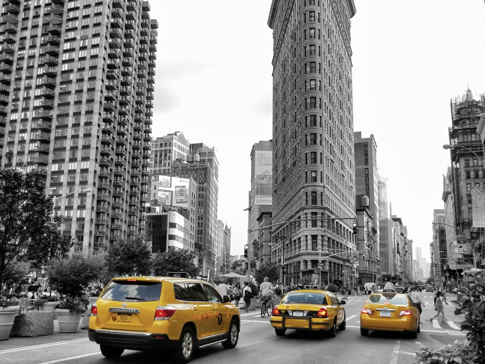 Gelbe Taxis New York 8 - Flatiron