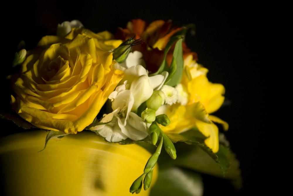 Gelber Blumentopf