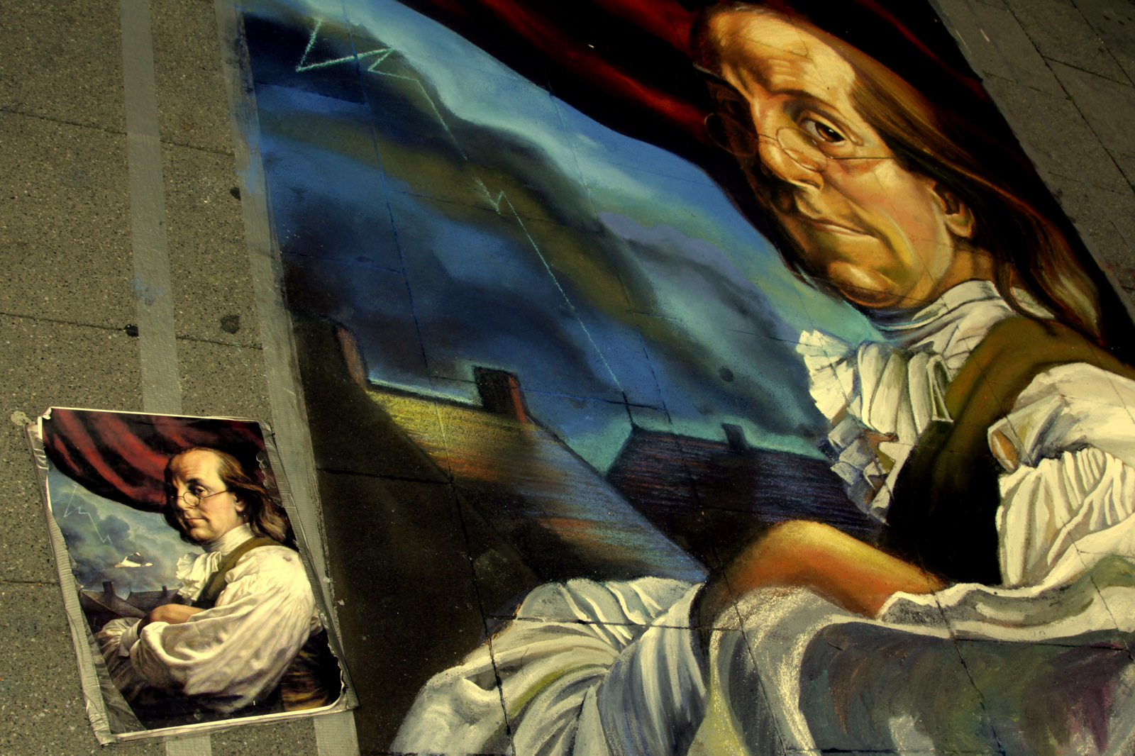 Geldern , Strassenmalerei 2013 , 3