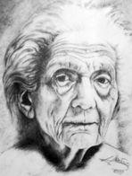 Gelebt (eine Zeichnung von mir/uno de mis dibujos)