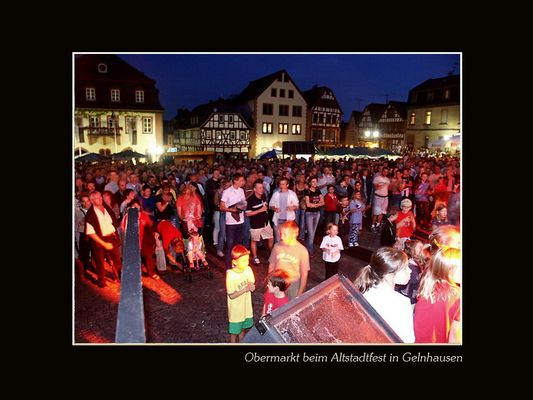 Gelnhäuser Obermarkt bei Nacht...