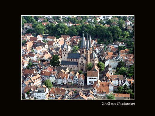 Gelnhausen - Marienkirche mit Untermarkt