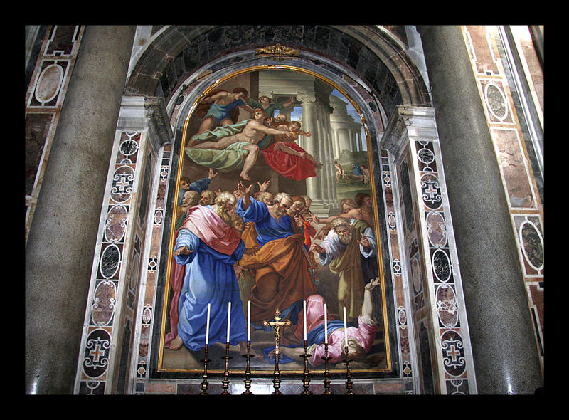 """Gemälde"" im Petersdom"