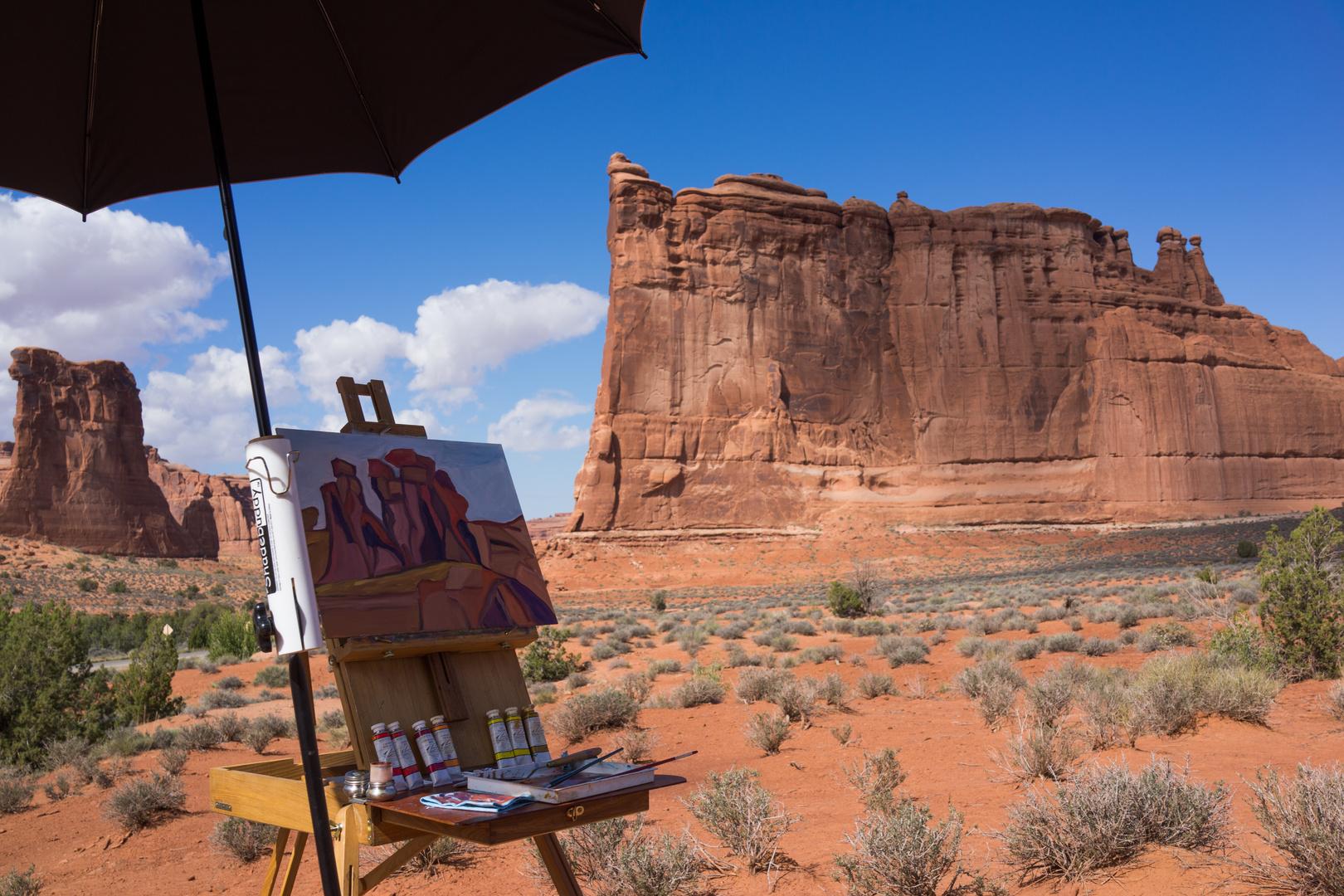 Gemälde in traumhafter Landschaft