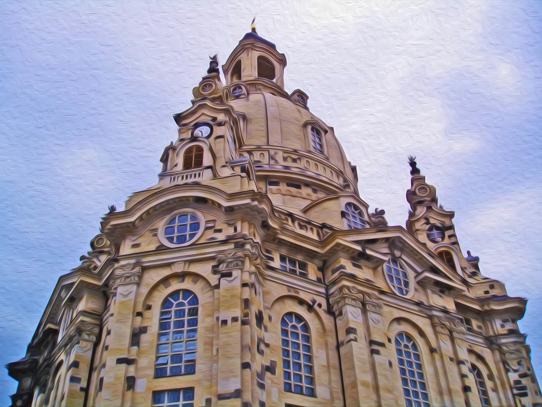 Gemälde nach Fotovorlage - Frauenkirche