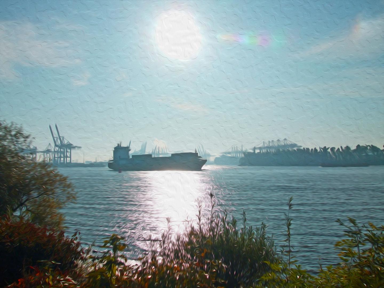 Gemälde nach Fotovorlage - Hafen