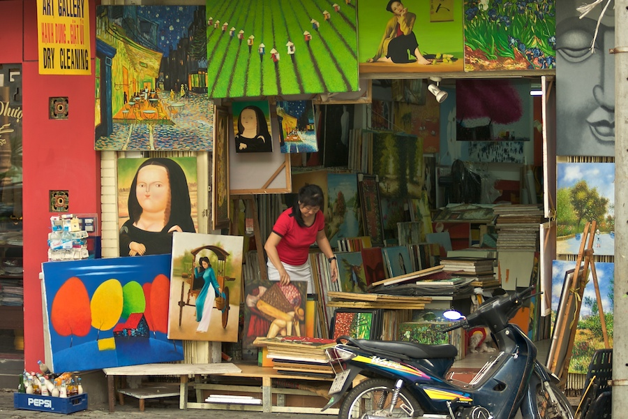 Gemäldegalerie in Saigon