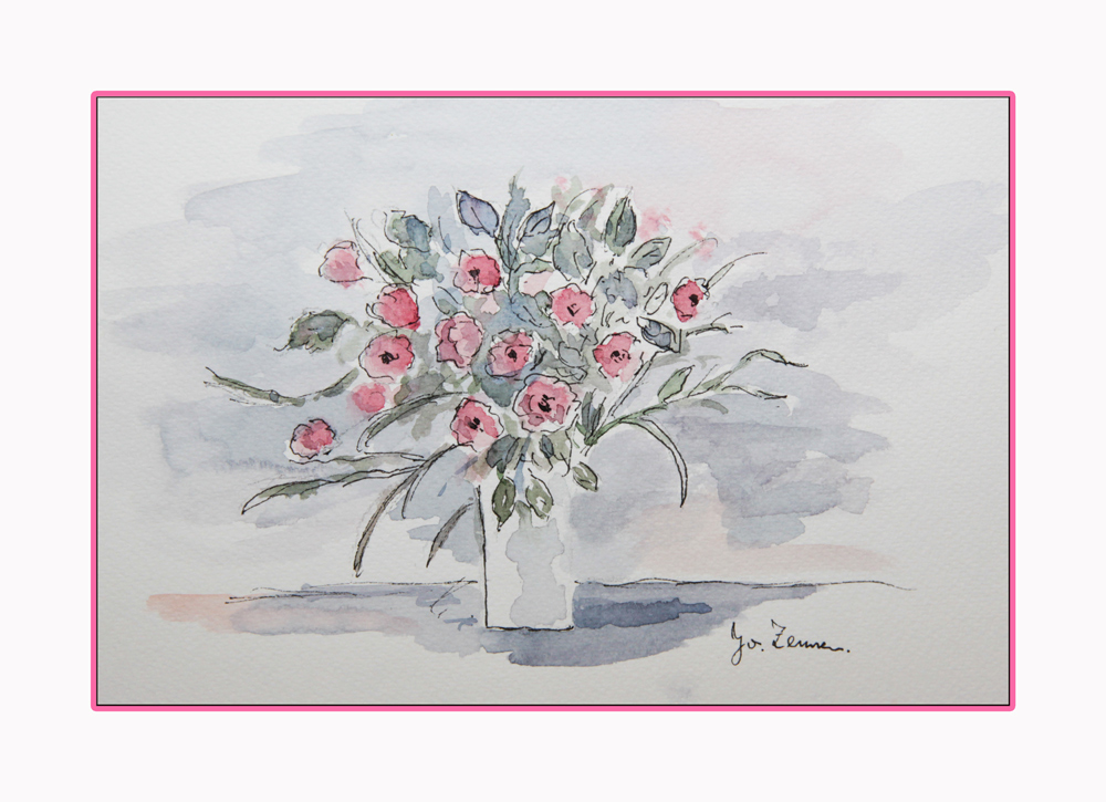gemalte blumen foto bild pflanzen pilze flechten bl ten kleinpflanzen probe bilder. Black Bedroom Furniture Sets. Home Design Ideas