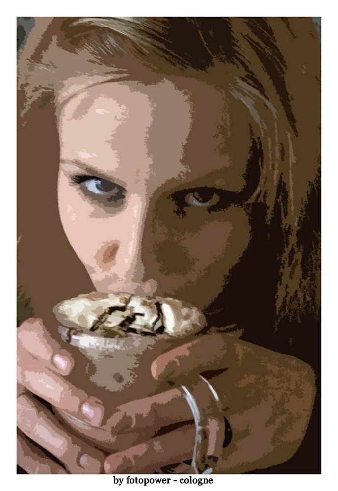 Gemütliches Kakao trinken