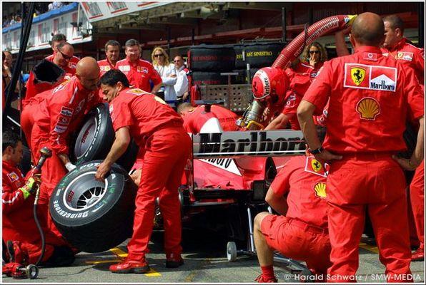 Generalprobe bei Ferrari beim Formel 1 GP von Spanien in Barcelona