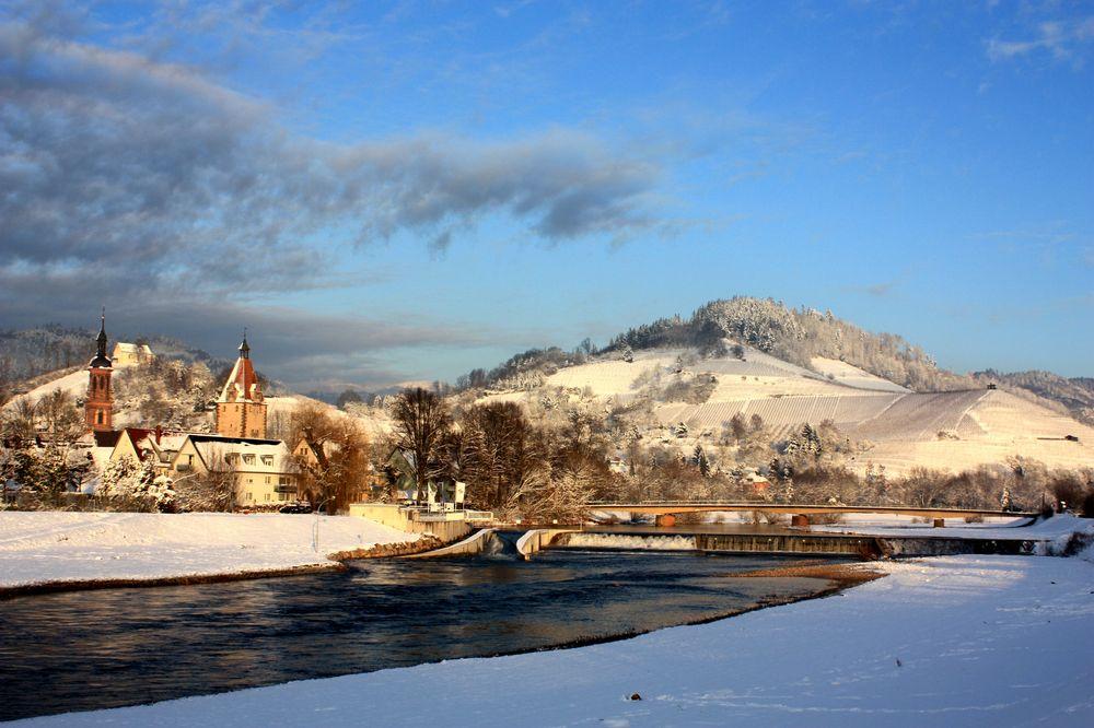 Gengenbach im winter foto bild landschaft natur for Goldfischteich im winter