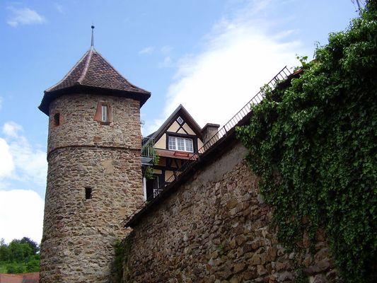 Gengenbach - Stadtmauer mit Turm