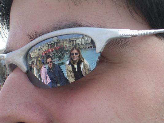 geniale Brillenspiegelung
