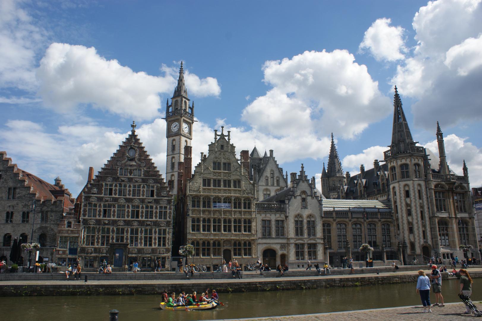 Gent - Mittelalterlicher Hafen an der Graslei