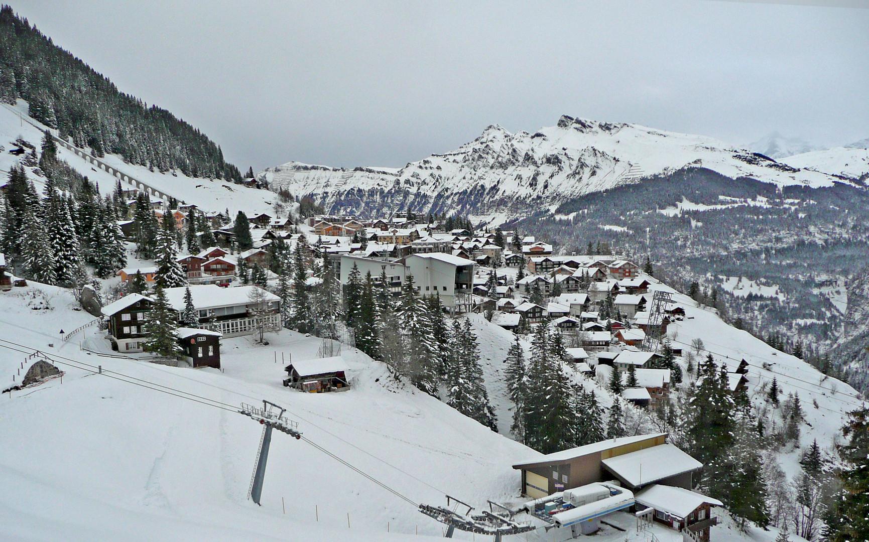 Genügend Schnee - aber alles noch...