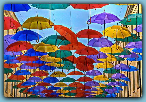 Genug Regenschirme für alle