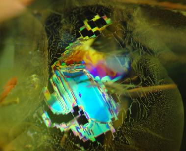 Geometric fingerprint in a heated sapphire