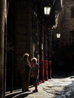 George y Margaret perdidos en el barrio gótico