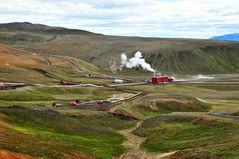 Geothermie im Lavagebiet Leihhujúkur/ Island