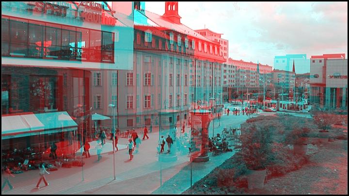 Gera dreidimensional - Stadtzentrum