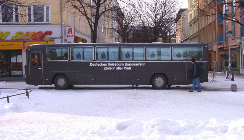 Gerade rechtzeitig eingetroffen in München ...
