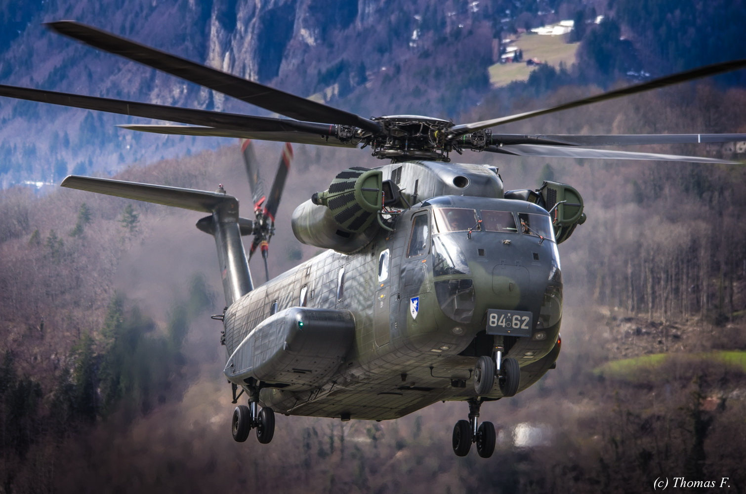 German Air Force CH53 in Meiringen