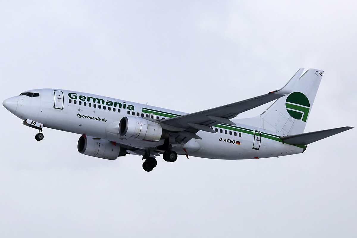 Germania Boeing 737 - Munich Airport am 09.02.2013