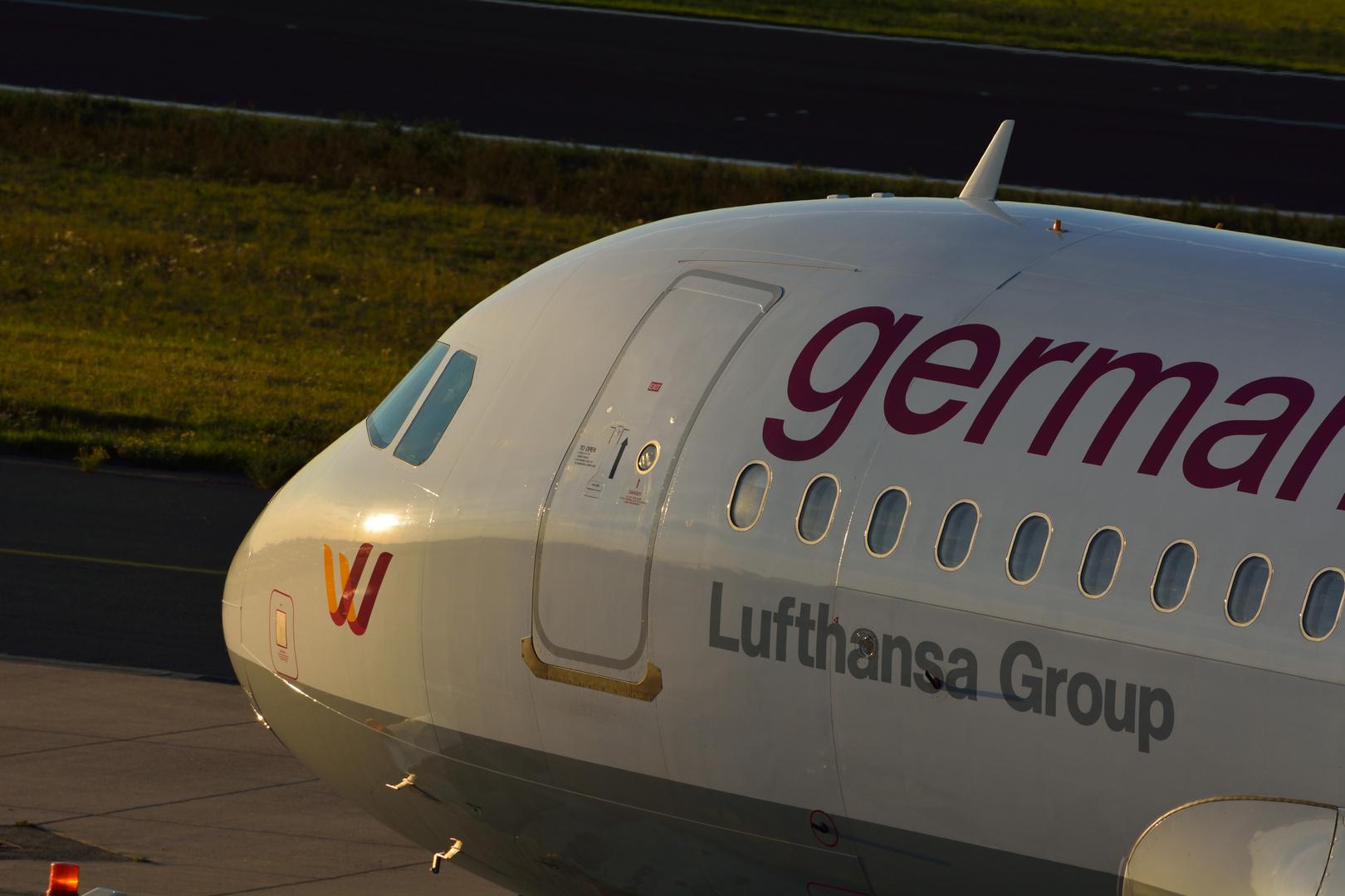 Germanwings kurz vor endgültiger Parkposition