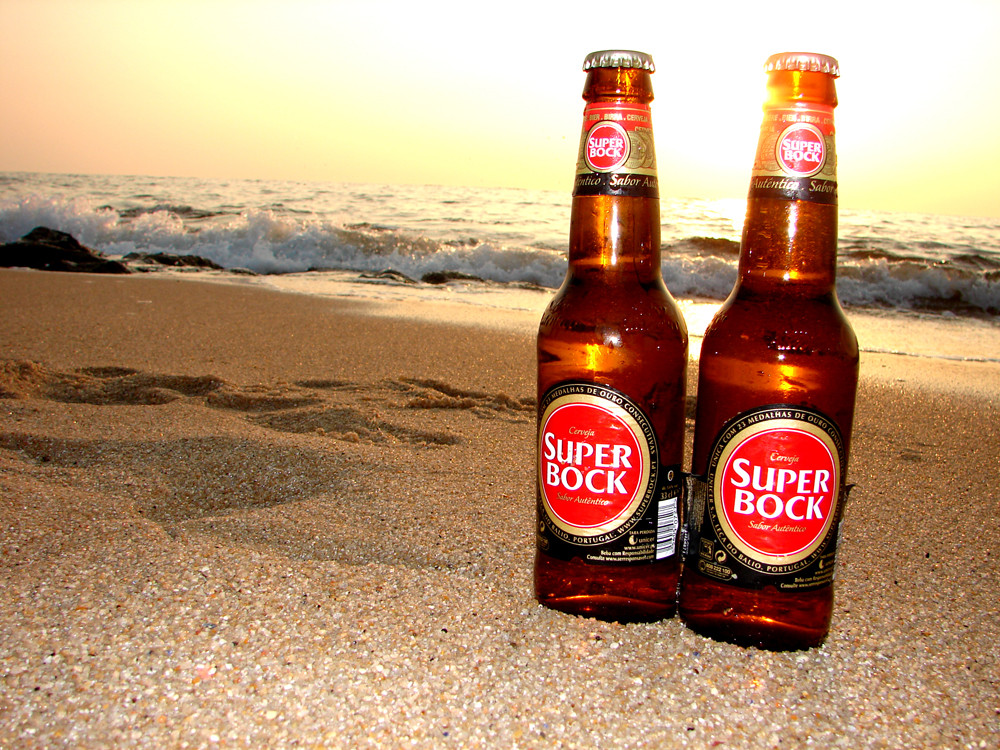 Gerstensaft am Strand