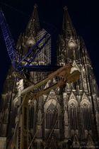 Gerüstabbau am Kölner Dom 1