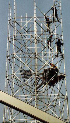 Gerüstturm auf der Hannovermesse