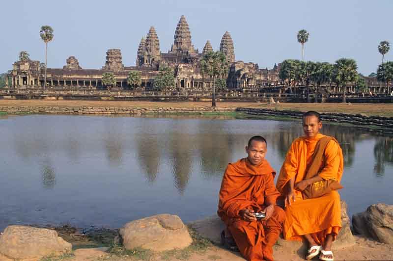 Gesamtansicht der Tempelanlage von Angkor.