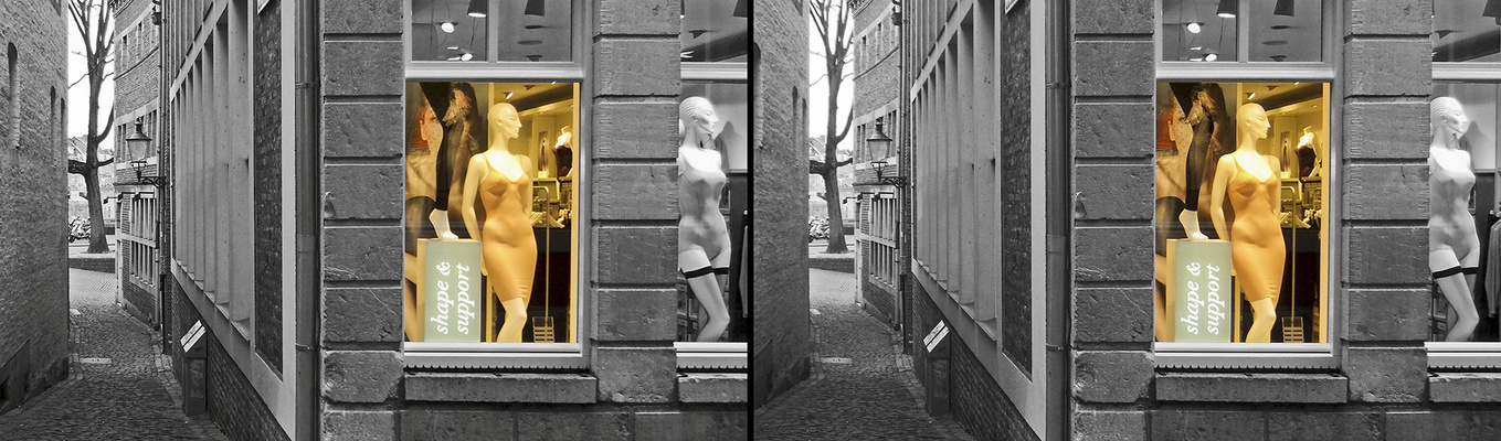 Geschäft in Maastricht (3D)