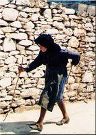 geschäftige Alte, Kreta 1980